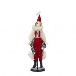 Poupée clown 27x65-H8 rouge