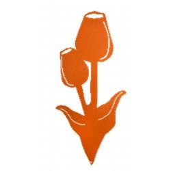 Tulipe orange a piquer...