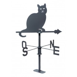 Girouette chat l45-h74 ac...